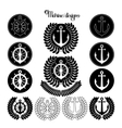 Graphic nautical emblem vector image