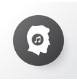 music lover icon symbol premium quality isolated vector image
