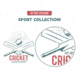 Retro cricket logo icon design Vintage vector image