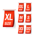 Size clothing labels vector image