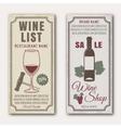 Wine Vertical Banners vector image