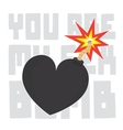 You are my sex bomb Valentines Day card vector image