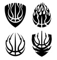 Basketball icon emblems set vector image