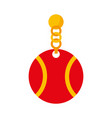 pet collar with ball icon vector image