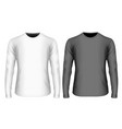mens long sleeve black vector image vector image