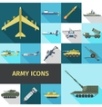 Army Icons Flat vector image