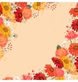Backdrop with gerbera and aster Red and yellow vector image vector image