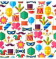 Celebration seamless pattern with carnival flat vector image