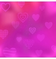 background with valentine hearts vector image