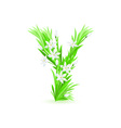 spring flowers alphabet y vector image