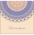 Background with vintage round ornate vector image