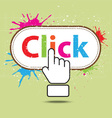 hand icon click design vector image vector image