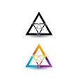 Abstract triangular colorful logo vector image