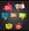 best choice tags vector image