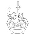 elephant taking a bath cartoon vector image