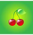 Glossy cherries vector image