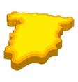 Map of Spain icon cartoon style vector image