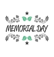 Memorial day sign vector image