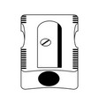 pencil sharpener school supply icon image vector image