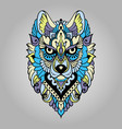 Tribal ethnic wolf vector image