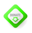 Donate Web button for charity vector image