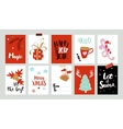 Xmas tags with greetings vector image