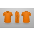 T-shirt Teplate Set Front Side Back View vector image