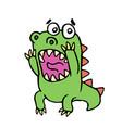 Scared dinosaur vector image