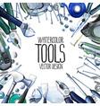 watercolor repair tools frame vector image