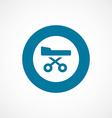 hospital bed bold blue border circle icon vector image