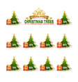 Bargain Christmas trees vector image