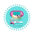 Track and Field Icon Flat Design vector image