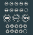 circular stamps for retail business vector image