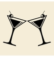 cocktail design over white background vector image