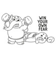 elephant he conquered his fear boxer vector image