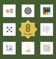 flat icon games set of gomoku pawn backgammon vector image