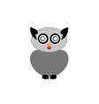 Grey owl- bird of prey vector image