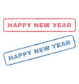 happy new year textile stamps vector image