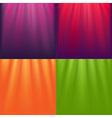 Lights Backgrounds Set vector image