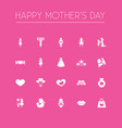 mothers day icon design concept set of 20 such vector image