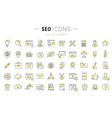 SEO Line Icons 7 vector image