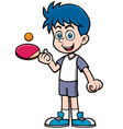 Table tennis player vector image