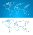 world map concept Contour vector image