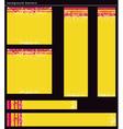 yellow modern banners vector image