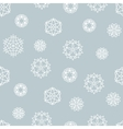 Stock snowflake seamless pattern on a blue vector image