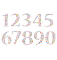 Set Social network number background with media ic vector image vector image