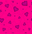 the seamless pattern of the violet heart on vector image