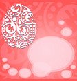 greeting card with happy easter red vector image