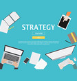 strategy graphic for business concept vector image vector image