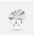 steel icon cloud rain vector image
